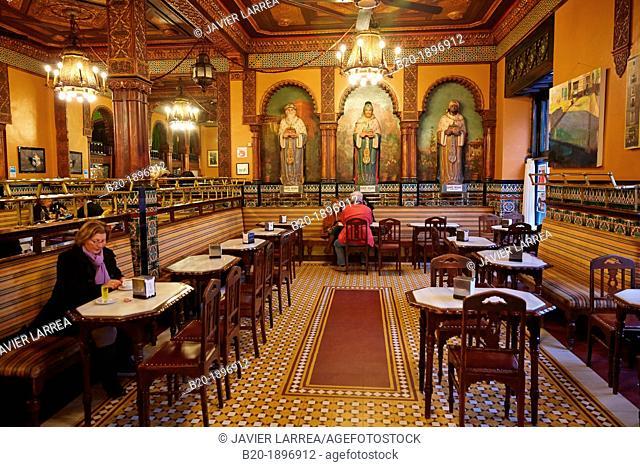 Iruña Cafe, Bilbao, Bizkaia, Basque Country, Spain