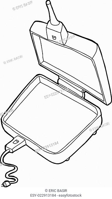 Outlined Pie Cooker