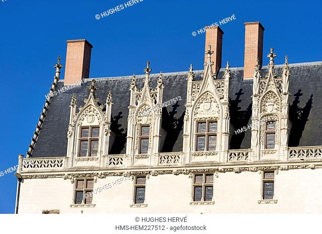 France, Loire Atlantique, Nantes, the Chateau des Ducs de Bretagne Dukes of Brittany Castle