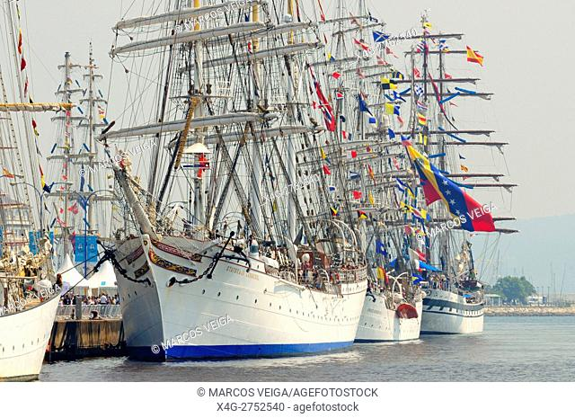 Participant vessels of The Tall Ships Races 2016 in A Coruna docks