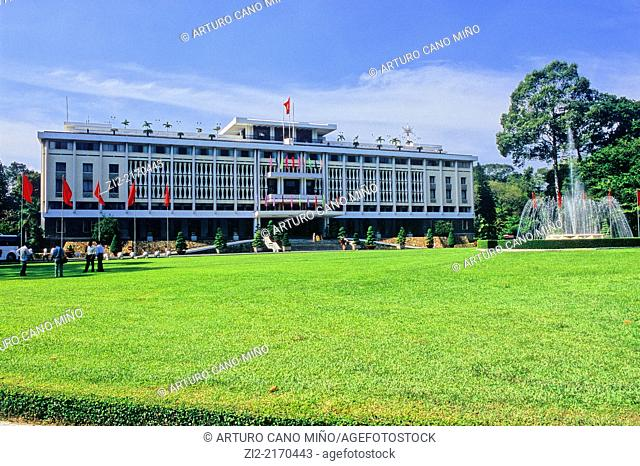 Independence Palace, also known as Reunification Palace. Ho Chi Minh City, formerly named Saigon, Vietnam