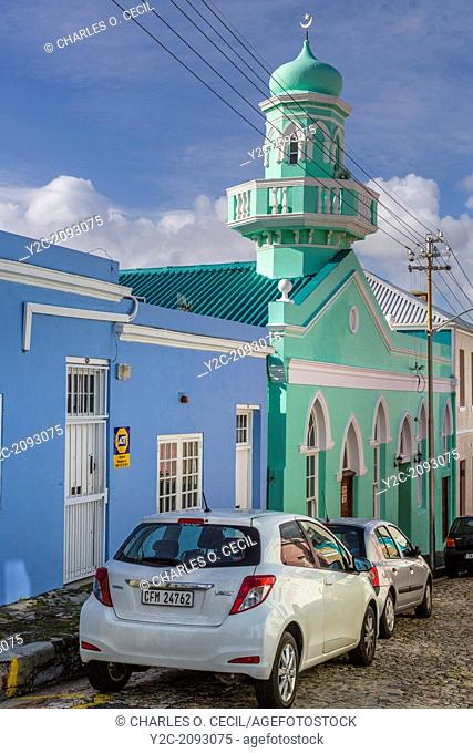 South Africa. Cape Town, Bo-kaap. Boorhaanol Mosque, third oldest in Bo-kaap
