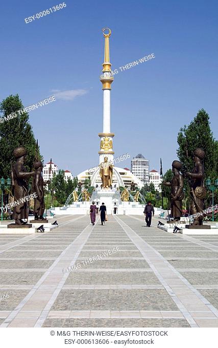 Independence monument, Ashgabat, Turkmenistan
