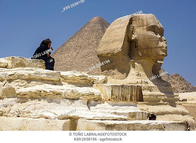 Sphinx. Giza Pyramids. Cairo. Egypt