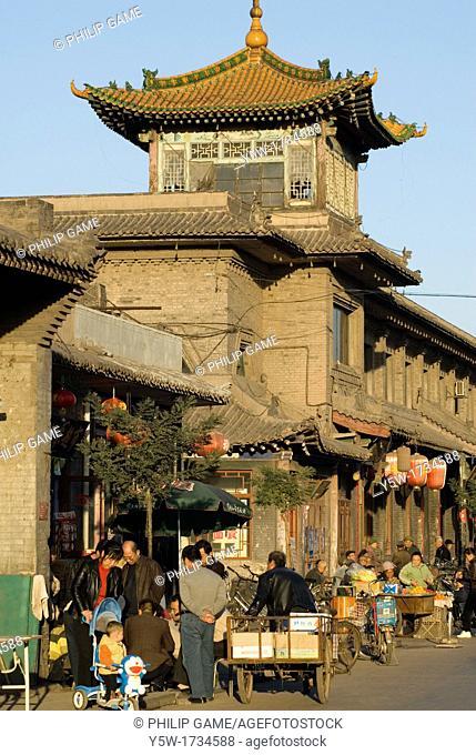 Walled city of Pingyao, Shanxi Province, northern China