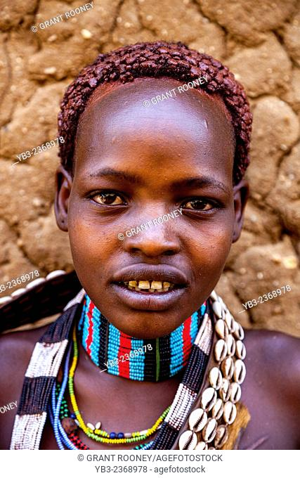 A Portrait Of A Girl From The Hamer Tribe, The Monday Market, Turmi, The Omo Valley, Ethiopia