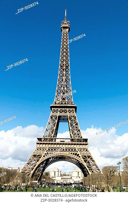 Eiffel tower in Paris in France