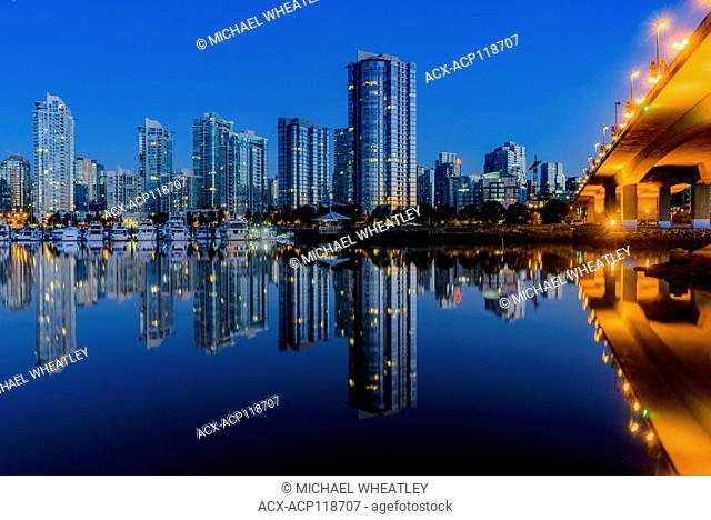 Yaletown condo towers, False Creek, Vancouver, British Columbia, Canada
