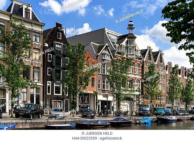 Amsterdam traditional architecture canalside housesAmsterdam, Netherlands