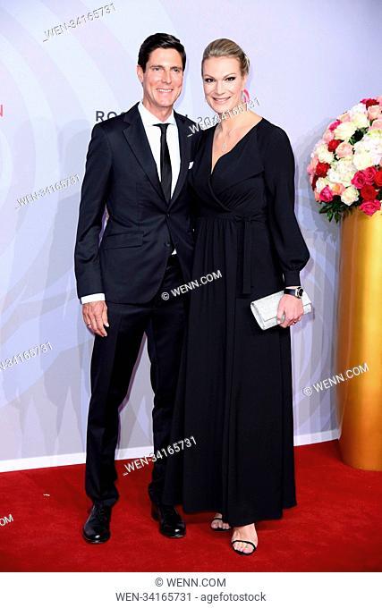 Rosenball 2018 at Hotel Intercontinental. Featuring: Maria Hoefl-Riesch mit Ehemann Marcus Hoefl Where: Berlin, Germany When: 05 May 2018 Credit: WENN