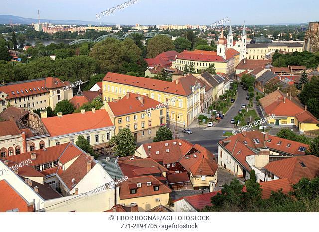 Hungary, Esztergom, skyline, general view