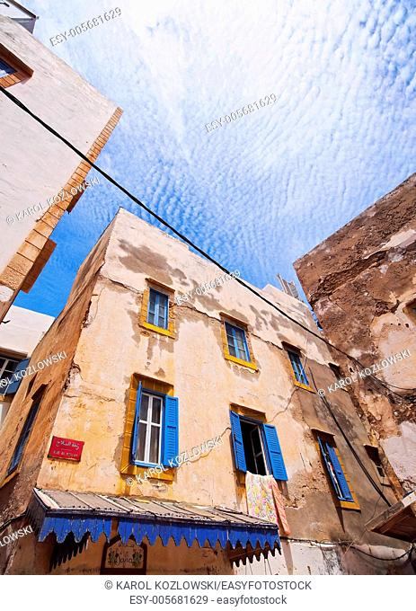 Old Medina in Essaouira - city located on a coast of Atlantic Ocean in Morocco, Africa