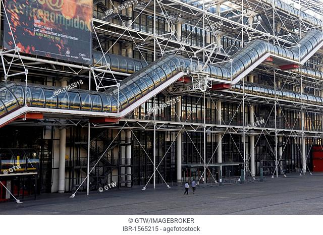 Pompidou Center or Centre Georges Pompidou also known as Beaubourg, Paris, France, Europe