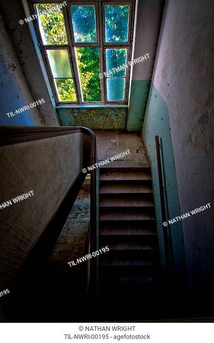 Stairwell in Krampnitz old tank barracks