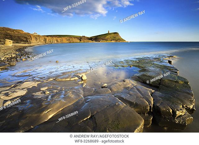 The view South from Kimmeridge Bay on Dorset's Jurassic Coast, towards the Clavell Tower