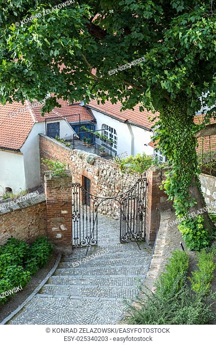 stairs to the Mikulov Castle in Czech Republic