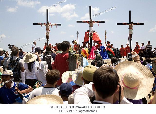 Cruxifixion of Flagellants on Good Friday, San Pedro Cutud, Pampanga, Philippines