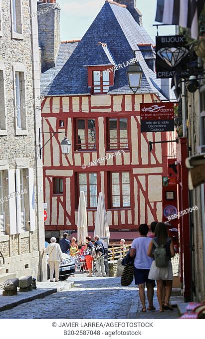 Rue du Jerzual, Dinan, Bretagne, Brittany, France