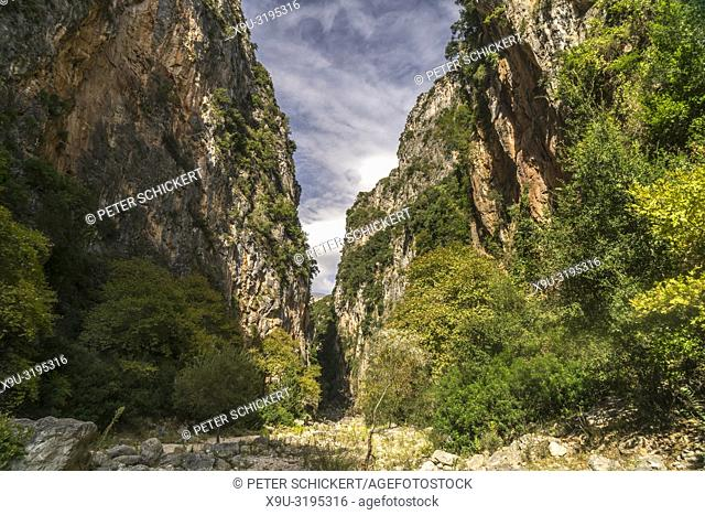 The Canyon of Gjipeh on the Albanian Riviera near Himara, Albania, Europe
