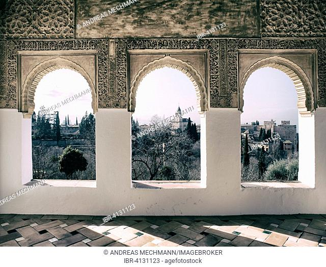 Overlooking the Alhambra, Granada, Andalucía, Spain