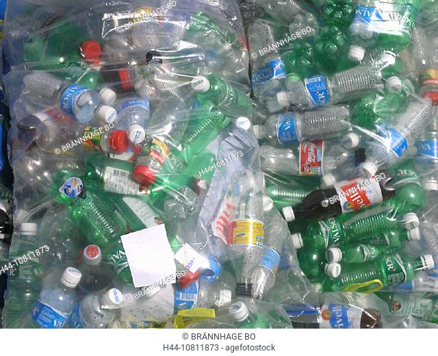 bags, collection, environment, PET bottles, plastic, recycling, collecting, Switzerland, Europe