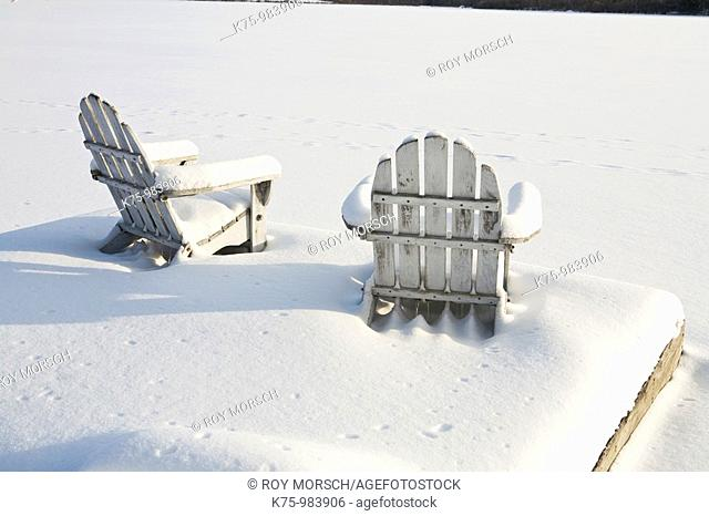 chairs in snow
