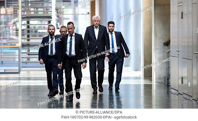 02 July 2018, Germany, Berlin: Horst Seehofer, chairman of the Christian Social Union (CSU) and Federal Minister of the Interior