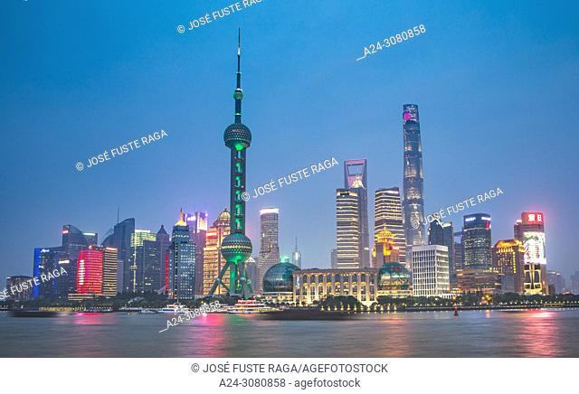 China, Shanghai City, Pudong district skyline