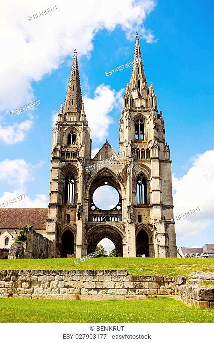 Saint-Jean-des-Vignes Abbey in Soissons. Soissons, Hauts-de-France, France