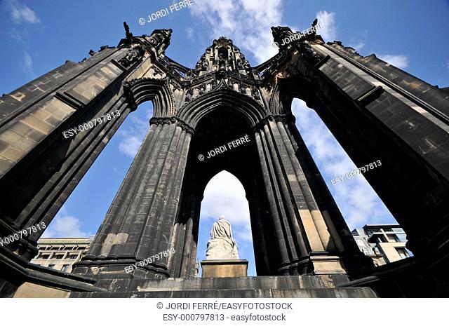 Monument to Sir Walter Scott, Princes Street, Edinburgh, Scotland, United Kingdom, Europe
