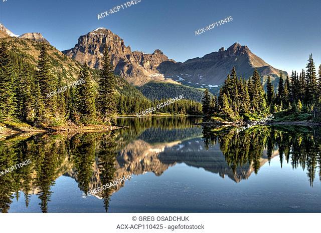 Unnamed alpine lake, Marvel Pass, near Mt Assiniboine, BC, Canada