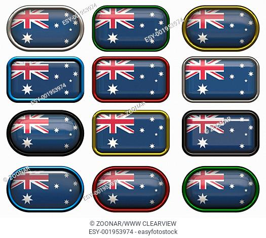twelve buttons of the Flag of Australia