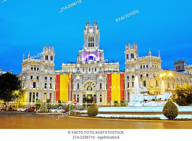 Madrid city hall at its new location,The Cybele Palace, formerly The Palace of Communication, once the headquarters of the postal service