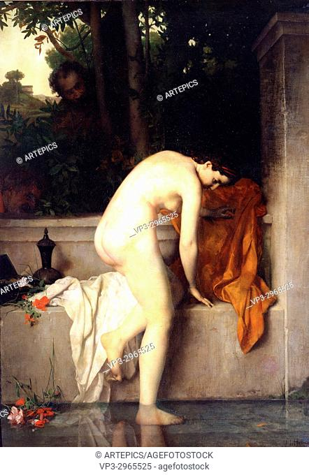 Henner Jean Jacques - The Chaste Susanna, called Susanna at the Bath - 1865