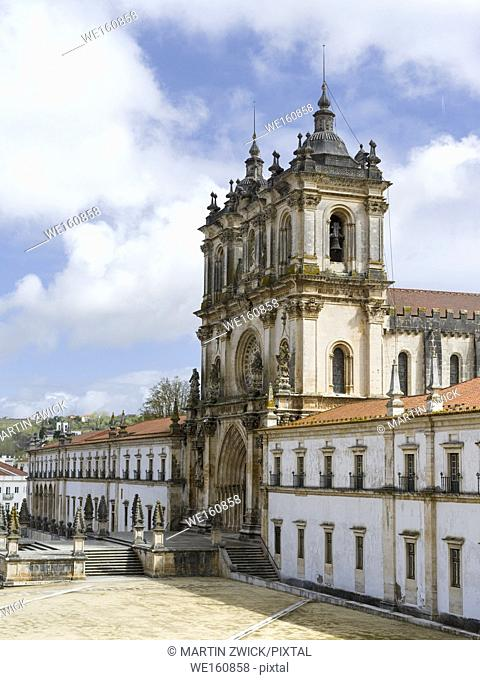 The monastery of Alcobaca, Mosteiro de Santa Maria de Alcobaca, listed as UNESCO world heritage site. Europe, Southern Europe, Portugal