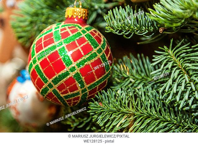 Christmas ornaments are decorations (usually made of glass, metal, wood or ceramics) that are used to festoon a Christmas tree