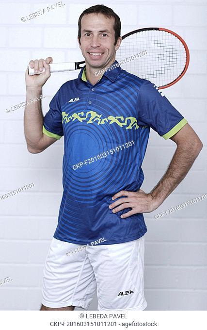 Tennis player Radek Stepanek, member of the Czech Republic Davis Cup team (CTK Photo/Pavel Lebeda)