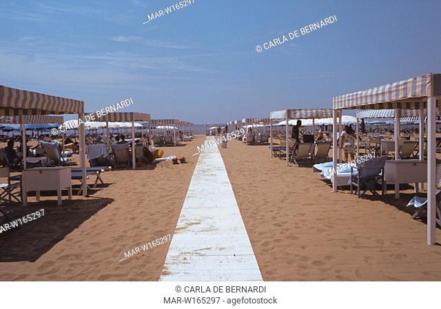 europe, italy, toscany, versilia, forte dei marmi, beach