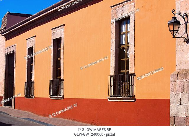 Facade of a building, House of the revisory fiscal, Morelia, Michoacan State, Mexico