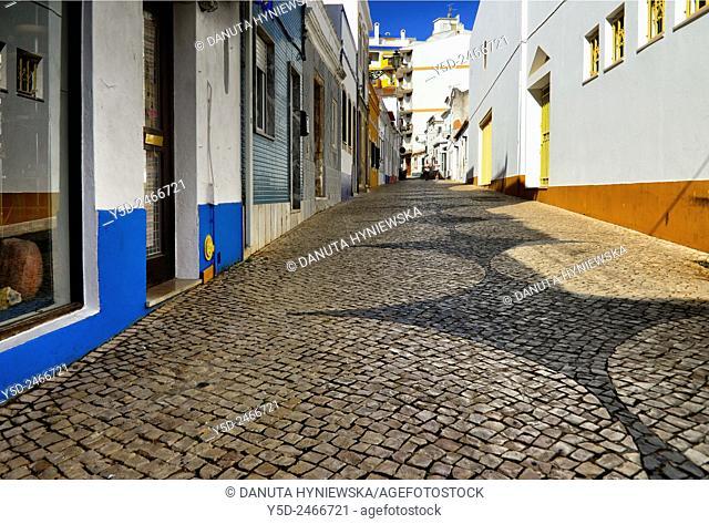 Europe , Portugal, Algarve , Western Algarve, Faro district , Lagos , Rua de Sao Goncalo de Lagos in historic center