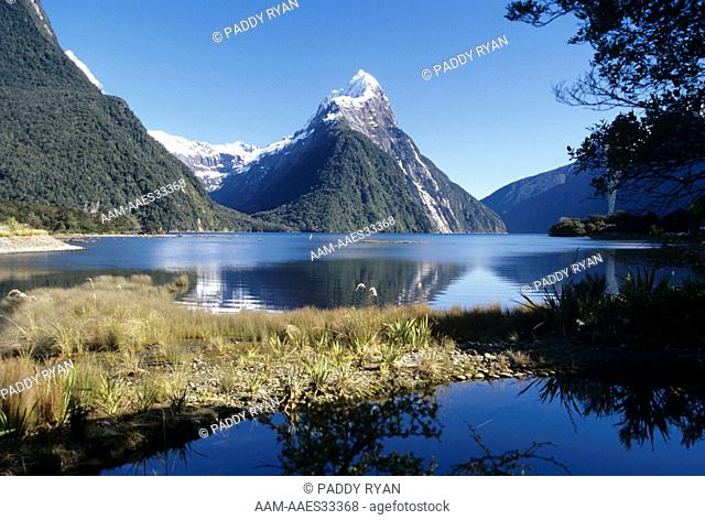 Mitre Peak Reflection Milford Sound Fiordland - New Zealand