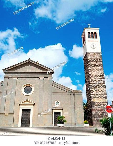 Santa Maria church in Cabras, Italy