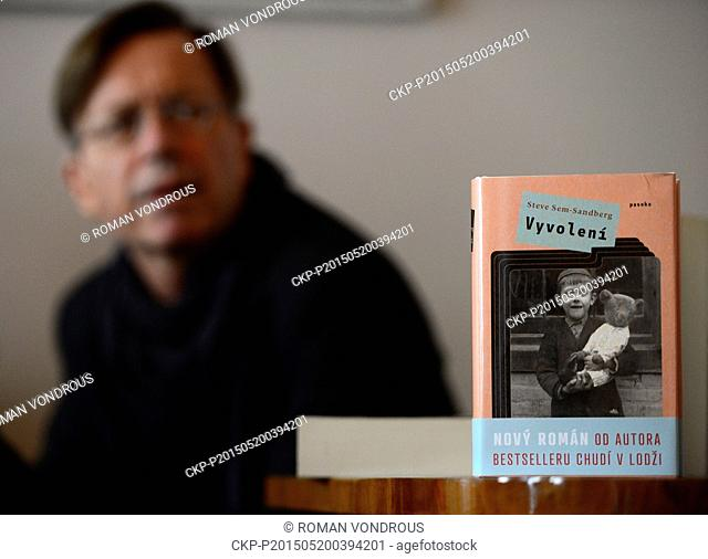 "Swedish writer Stev Sem-Sandberg presents his novel """"De utvalda"""" in Prague, Czech Republic, May 20, 2015. (CTK Photo/Roman Vondrous)"