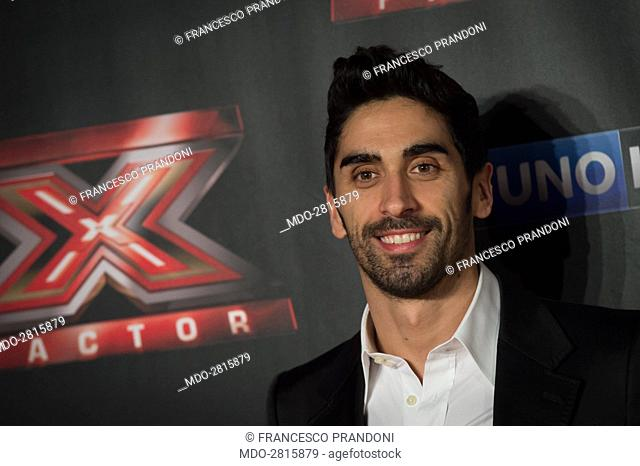 The swimmer Filippo Magnini during the final of the the talent show X Factor. Assago, Italy, 11th December 2014