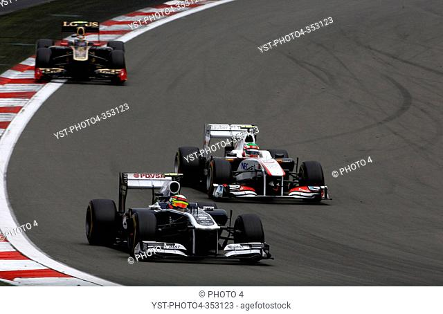 Pastor Maldonado, Sergio Pérez, Formula One, German Grand Prix, Nurburgring, Germany