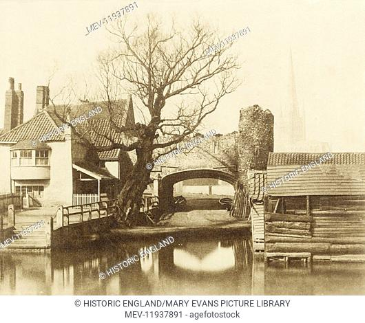 Pull's Ferry, Norwich, Norfolk, 1854. William Russell Sedgfield (1826-1902), albumen print. William Russell Sedgfield included this image