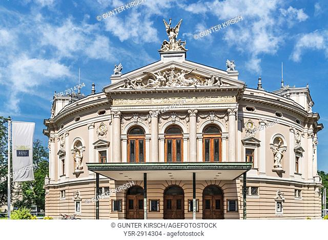 The opera of Ljubljana is located on the street Zupanciceva ulica 1. The building was built in the year 1892, Ljubljana, Slovenia, Europe