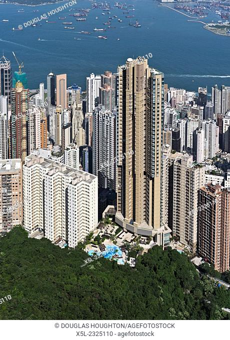 MID LEVELS HONG KONG Skyscraper residential flats above Hong