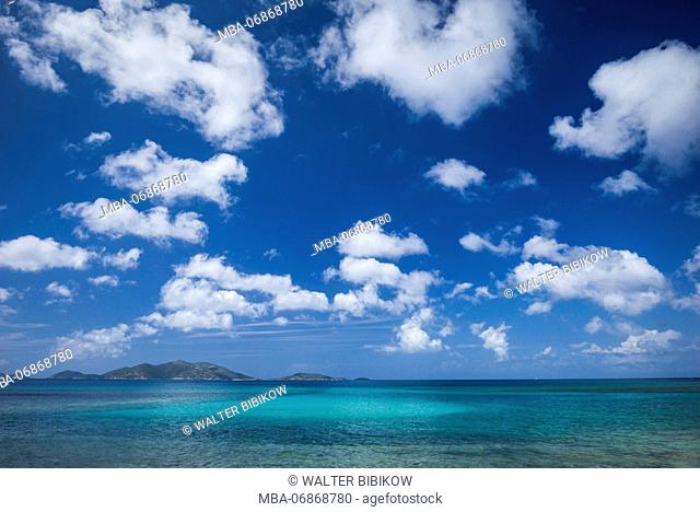 British Virgin Islands, Tortola, Apple Bay, seascape