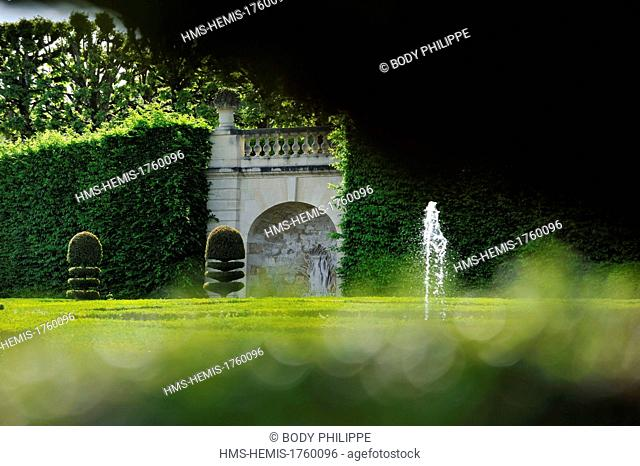 France, Indre et Loire, Loire Valley listed as World Heritage by UNESCO, Chateau de Villandry Gardens, property of Henri and Angelique Carvallo